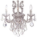 Crystorama Maria Theresa Chrome 3-Light Wall Sconce