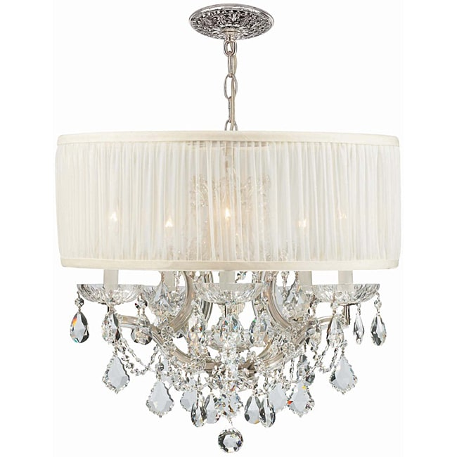 Crystorama Brentwood Collection 5-light Polished Chrome Chandelier