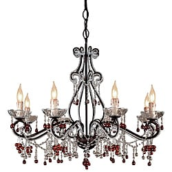 Crystorama Paris Flea Market Dark Rust 8-light Chandelier
