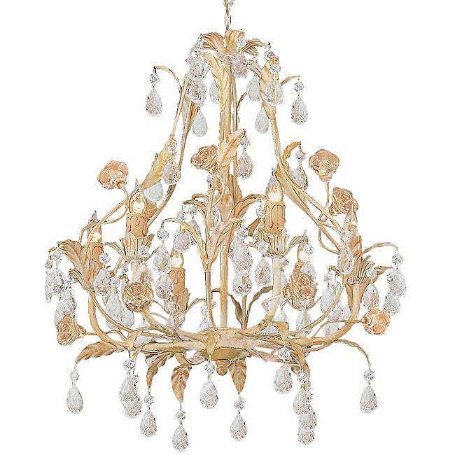 Crystorama Athena Collection 6-light Champagne Chandelier