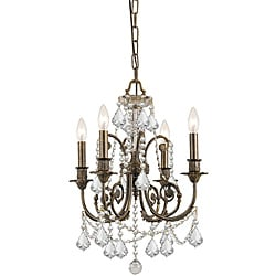Crystorama Regis Collection 4-light English Traditional Bronze Chandelier