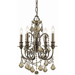 Crystorama Regis English Bronze 4-light Chandelier