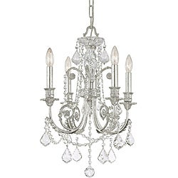 Crystorama Regis Olde Silver 4-light Chandelier