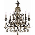 Crystorama Regis English Bronze 6-light Chandelier
