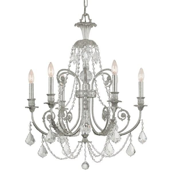 Crystorama Regis Olde Silver 6-light Chandelier