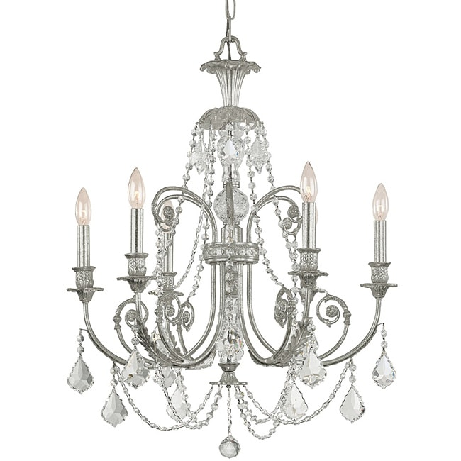 Crystorama Regis Olde Silver 6-light Chandelier
