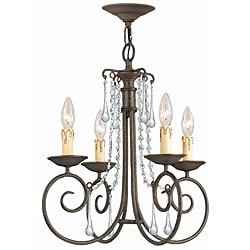 Crystorama Soho Dark Rust 4-light Chandelier
