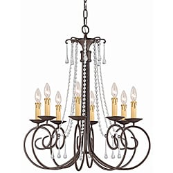 Crystorama Soho Dark Rust 8-light Chandelier