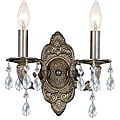 Crystorama Sutton 2-Light Venetian Bronze Wall Sconce