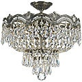 Crystorama Majestic Historic Brass 3-light Semi-Flush Fixture