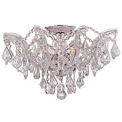 Crystorama Maria Theresa Chrome 5-Light Semi-flush Fixture