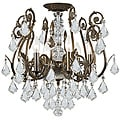 Crystorama Regis English Bronze 6-Light Semi-Flush Indoor Fixture