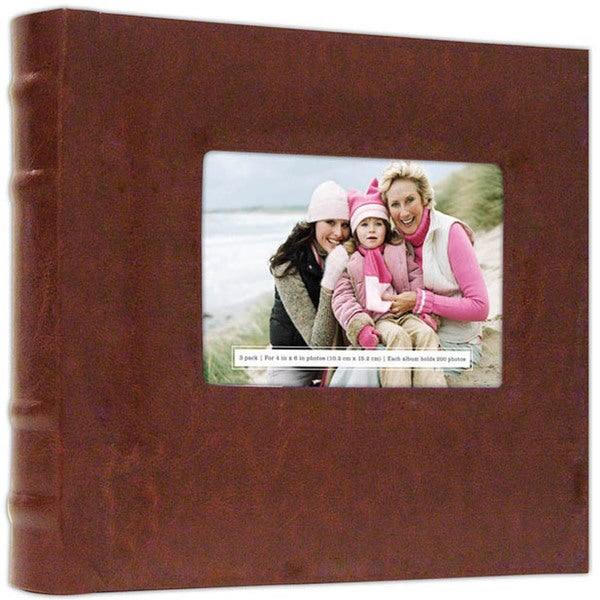 Old Town Leather 200 Photo Albums (Pack of 3)