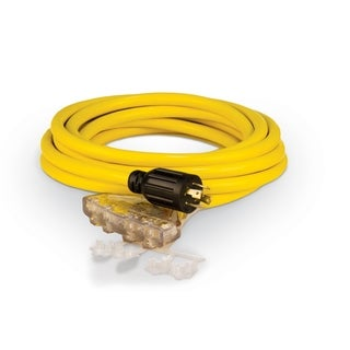 Champion 25-Foot 30-Amp 125/250-Volt Fan-Style Generator Extension Cord (L14-30P to four 5-20R)