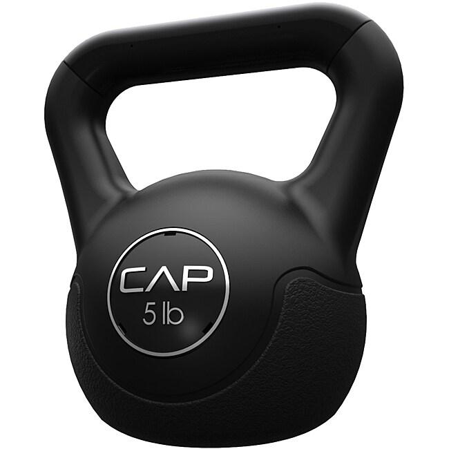 CAP Barbell 5 lb Black Vinyl Kettlebell