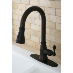 Classic Oil Rubbed Bronze Single Handle Faucet with Pull-Down Spout