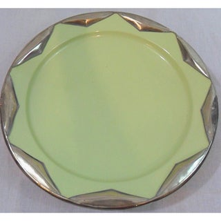 Ceramic Plate with Silver Trim (Morocco)