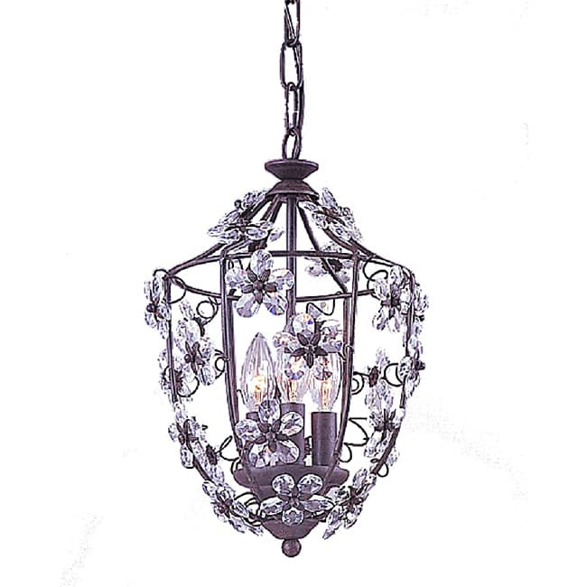 Crystorama Abbie Dark Rust 4-Light Pendant
