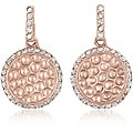Collette Z Rosetone Sterling Silver Clear Cubic Zirconia Earrings