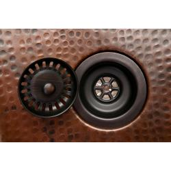 Premier Copper Products Kitchen, Prep, Bar 3.5-inch Oil Rubbed Bronze Basket Strainer Drain