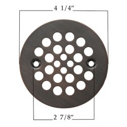 Round 4.25-inch Oil Rubbed Bronze Shower Drain Cover