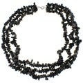 Pearlz Ocean Black Onyx Triple Strand Chip Necklace