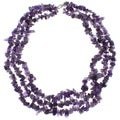 Pearlz Ocean Amethyst Triple Strand Chip Necklace