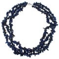 Pearlz Ocean Lapis Lazuli Triple Strand Chip Necklace