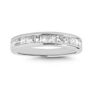 14k White Gold 3/4ct TDW Princess-cut Diamond Wedding Band (I-J, I2-I3)