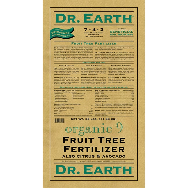 Dr Earth Fruit Tree Organic Fertilizer