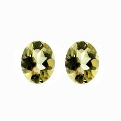 Glitzy Rocks 10x8 Oval-cut Citrine Stones (4 3/4ct TGW) (Set of 2)