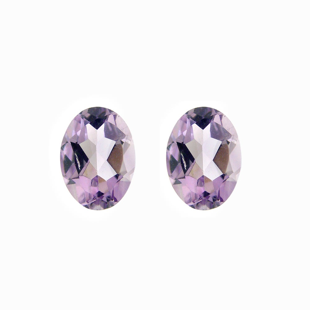 Glitzy Rocks 8x6 Oval-cut Amethyst Stones (2 1/10ct TGW) (Set of 2)