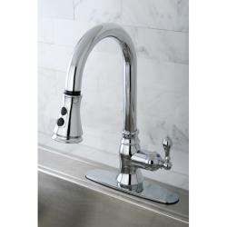 Classic Chrome Single Handle Faucet with Pull Down Spout