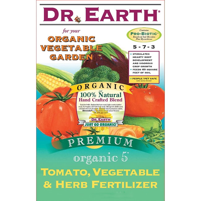 Dr earth organic 5 tomato vegetable and herb fertilizer for Vegetable garden fertilizer