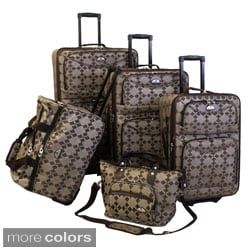American Flyer Argyle Collection 5-piece Luggage Set