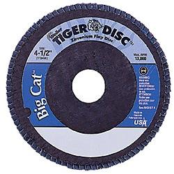 Weiler 4.5-inch Tiger Disc Big Catabr Flap Arbor-Hole Phenolic