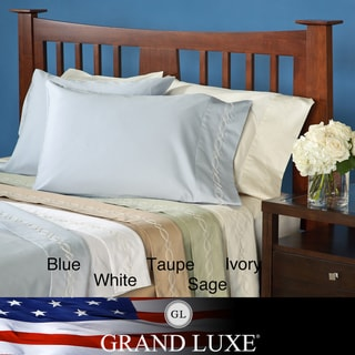 Grand Luxe Egyptian Cotton Sateen 300 Thread Count King-size Deep Pocket Sheet Set