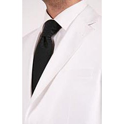 Ferrecci Men's Shiny White Two-button Two-piece Slim Fit Suit