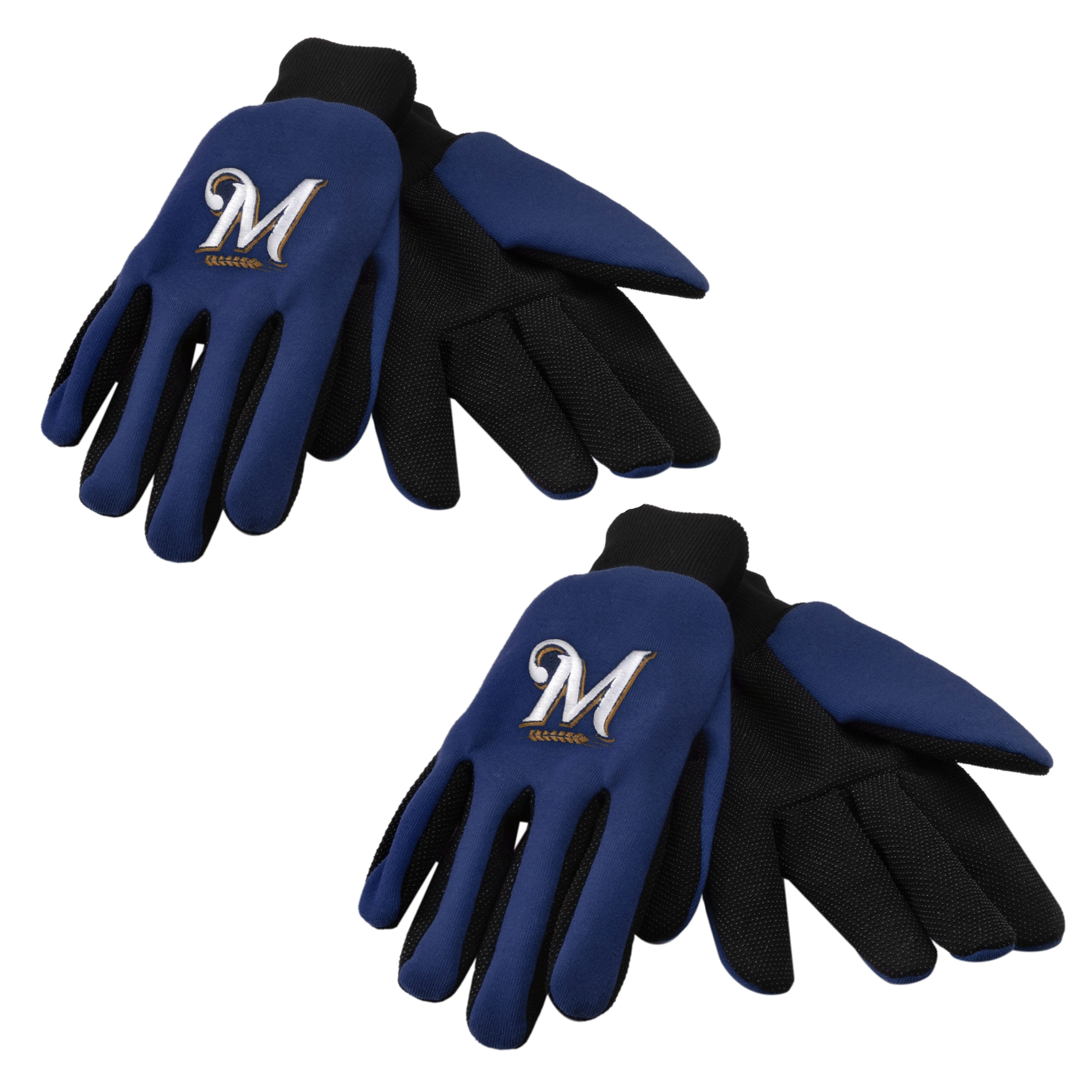 Forever Collectibles Milwaukee Brewers Two-tone Gloves (Set of 2 Pair)