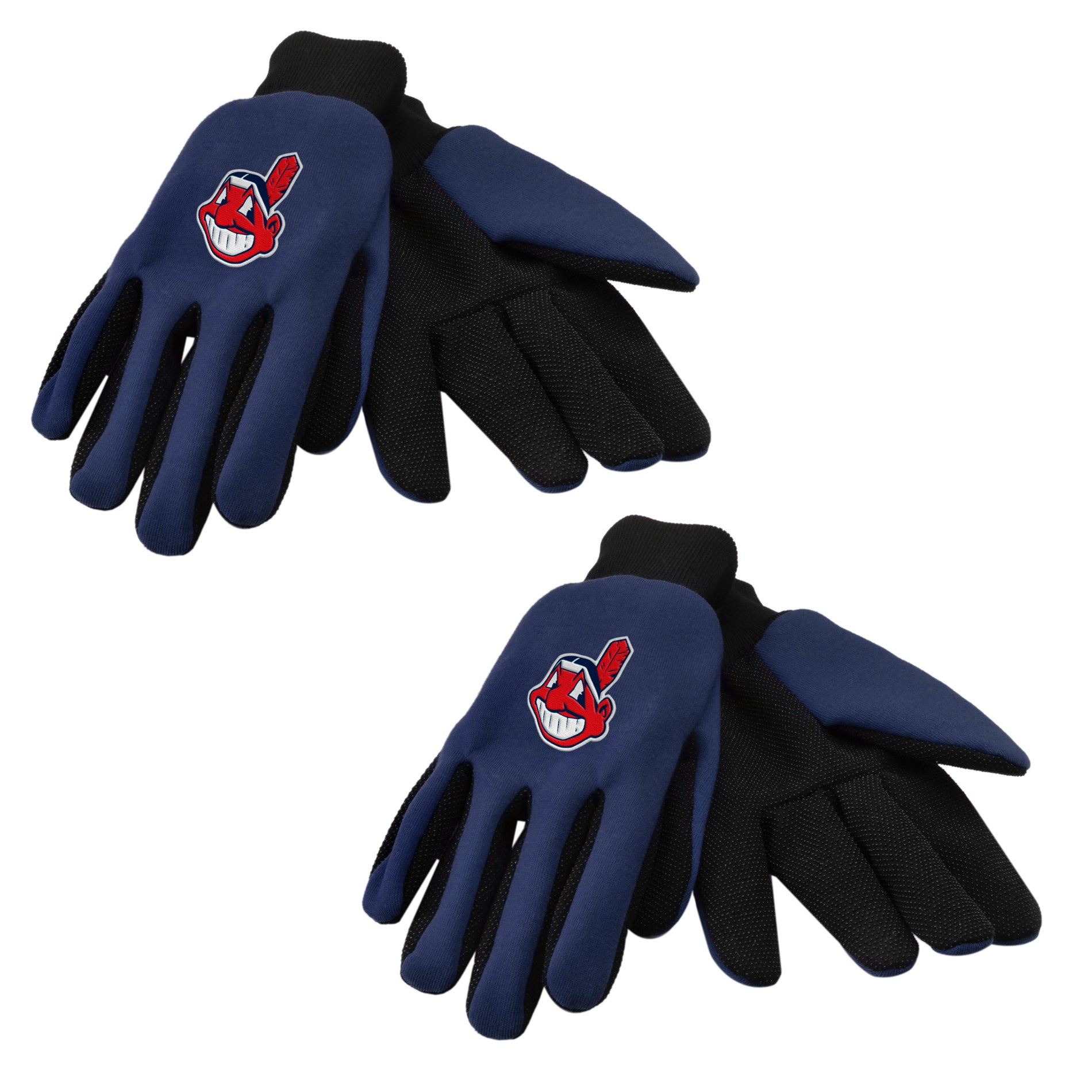 Forever Collectibles Cleveland Indians Two-tone Gloves (Set of 2 Pair)