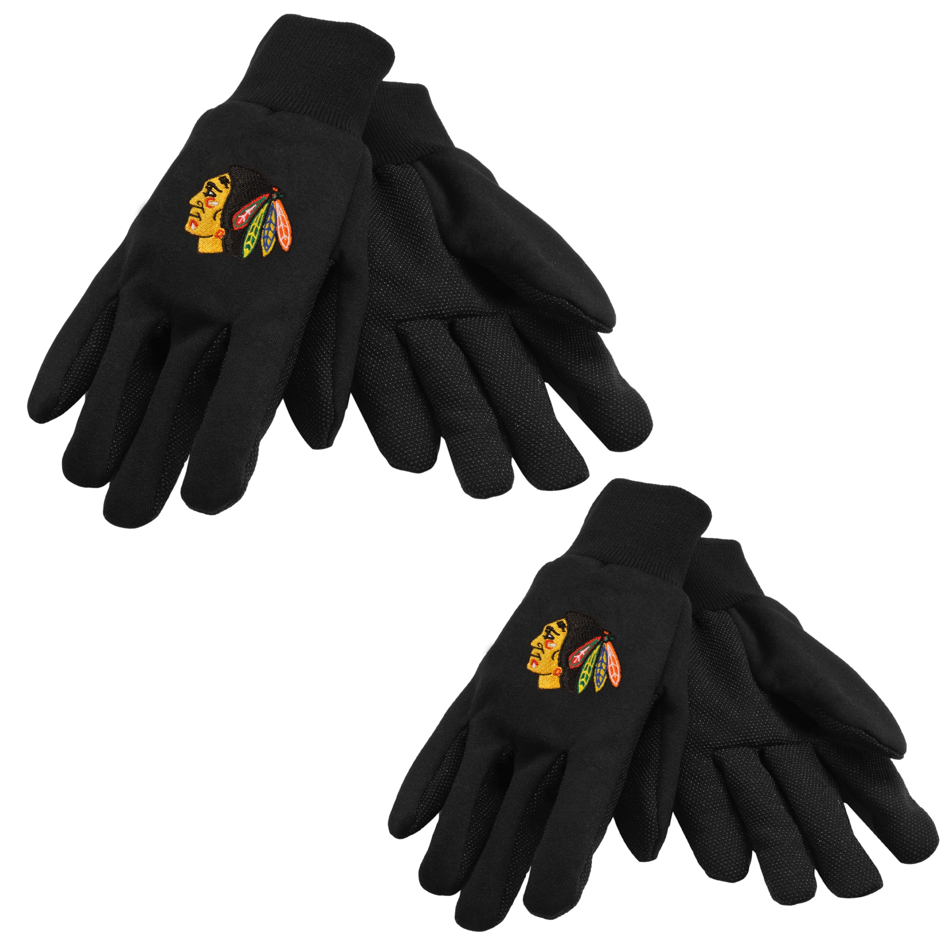 Chicago Blackhawks Two-tone Gloves (Set of 2 Pair)
