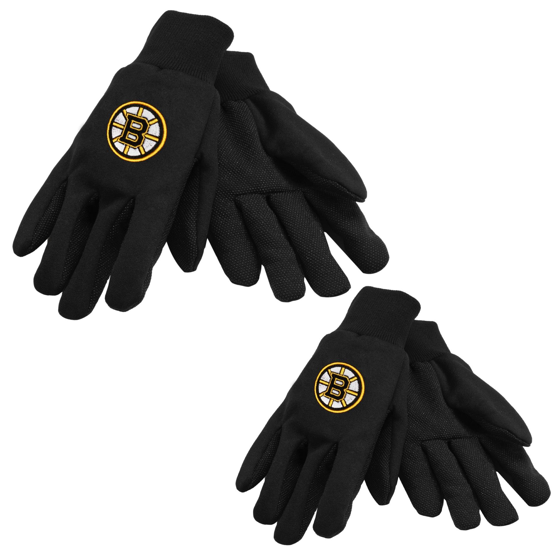 Boston Bruins Two-tone Work Gloves (Set of 2 Pair)