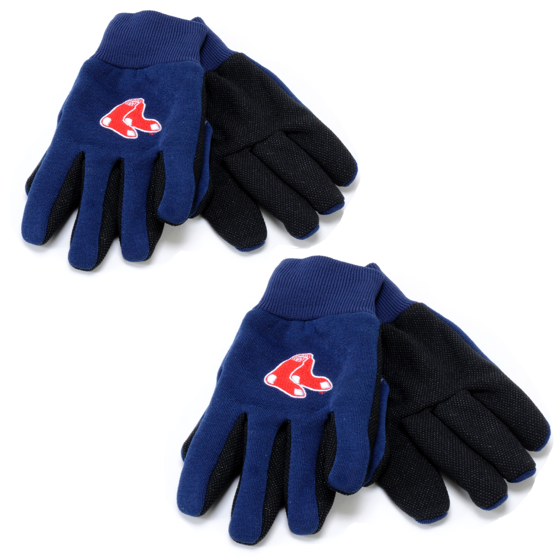 Boston Red Sox Two-tone Work Gloves (Set of 2 Pair)