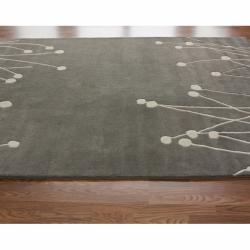 Contemporary Handmade Luna New Zealand Wool Rug (5' x 8')