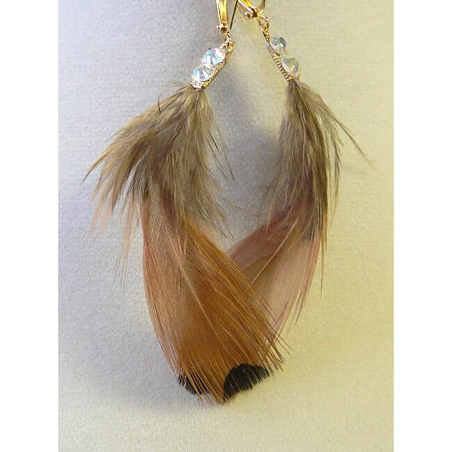 Commanche' Feather Earrings