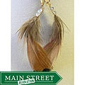Commanche' Feather Earrings