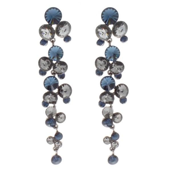 NEXTE Jewelry Silvertone Blue and Grey Dangle Earrings