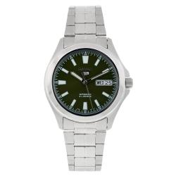 Seiko Men's 5 Automatic SNKL05K Silver Stainless-Steel Automatic Watch with Blue Dial