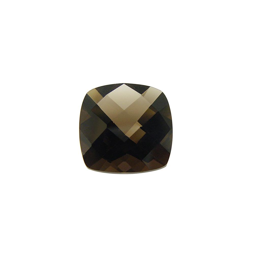 Glitzy Rocks 14x14 Cushion-cut Smokey Quartz Stone (10ct TGW)