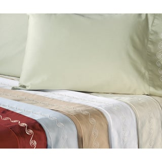 Grand Luxe Egyptian Cotton 500 Thread Count Swirl King-size Deep Pocket Sheet Set